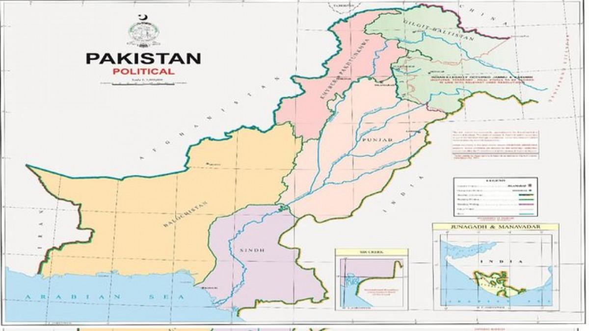 पाकिस्तानने प्रकाशित केलेला नकाशा